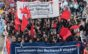 STG206. Stuttgart (Germany), 30/04/2016.- People hold banners reading 'Together we stop the move to the right' and 'Class war instead of division; as thousands of demonstrators take part in a protest in Stuttgart, Germany, 30 April 2016 against the right-wing conservative Alternative for Germany (AfD) who are holding their party national convention the city. Reports state that left wing protestors demonstrated outside the venue with the aim of stopping people attending the conference. German right-wing anti-migration Alternative for Germany (AfD) has recently come under criticism for remarks about the Islam. (Protestas, Alemania) EFE/EPA/DANIEL MAURER